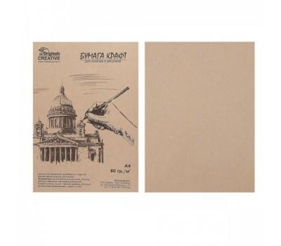 Бумага для творчества Крафт А4 50л 78-80г/м2 KRIS 2130802/БК-50