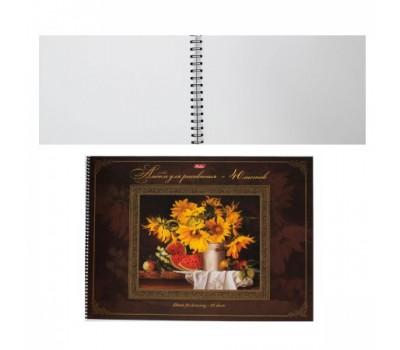 Альбом для эскизов на спир А3 40л обл мягк карт спир на картоне Подсолнухи жест подлож 40А3Всп_16281